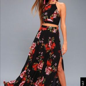 Lulu's Two Piece Floral Maxi Dress